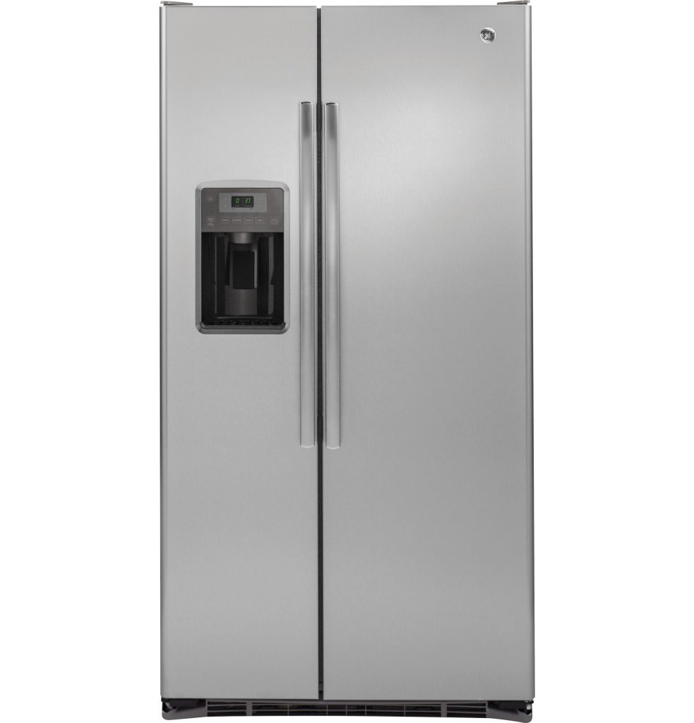 GE® 21.9 Cu. Ft. Counter-Depth Side-By-Side Refrigerator (GZS22DSJSS) Image