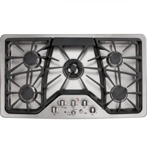 GE Café™ Series 36in Built-In Gas Cooktop (CGP650SETSS) Image