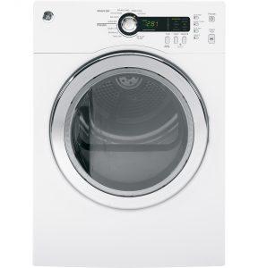 GE® 4.0 cu.ft. Capacity Electric Dryer (DCVH480EKWW) Image
