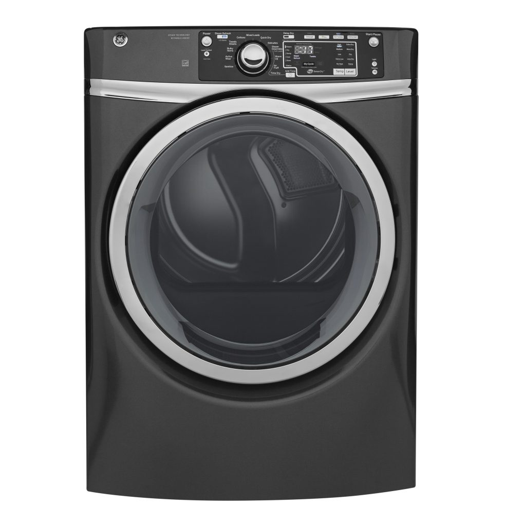 GE® 8.3 cu. ft. Capacity Front Load Electric ENERGY STAR® Dryer with Steam (GFD48ESPKDG) Image