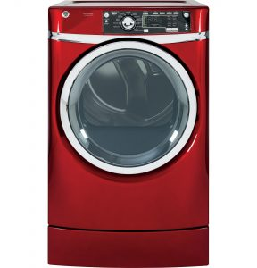 GE® 8.3 cu. ft. capacity RightHeight™ Design Front Load electric dryer with steam (GFDR485EFRR) Image