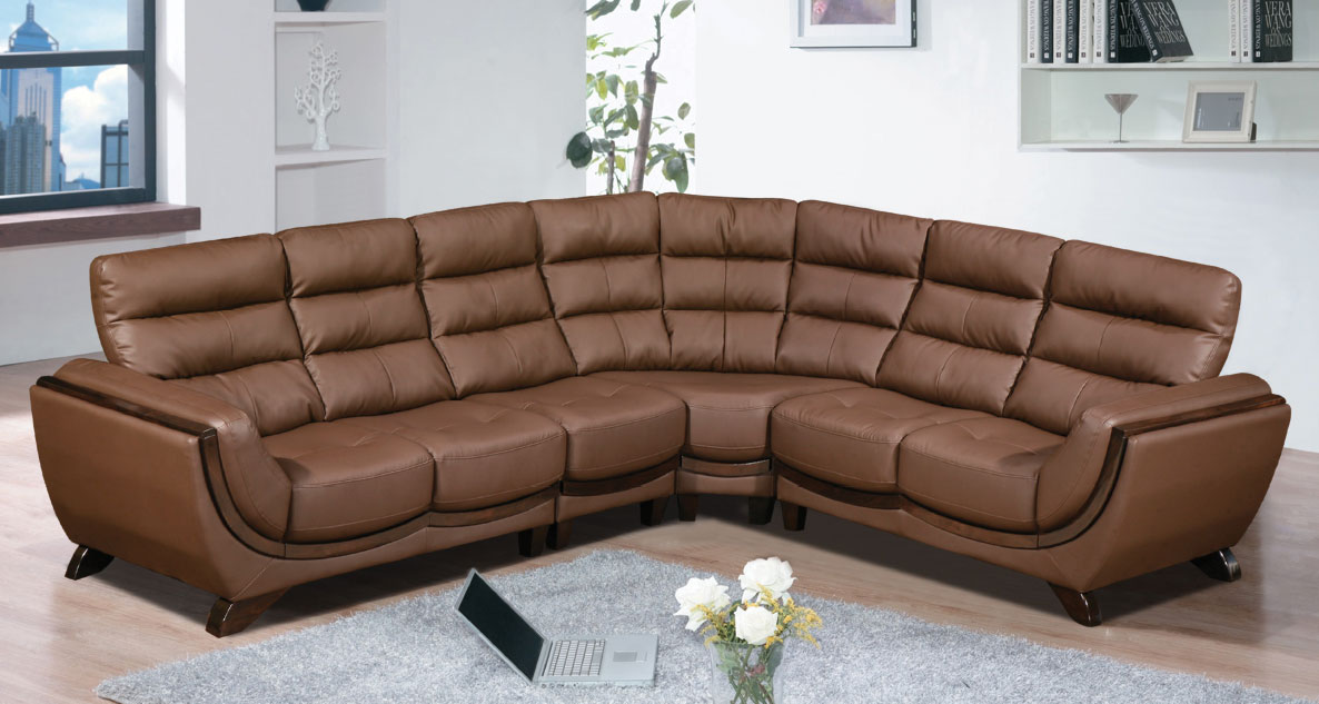Global Decor Furniture Leather Sectional (GHABANA) Image