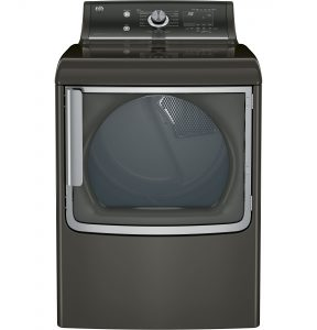 GE® 7.8 cu. ft. capacity electric dryer with stainless steel drum and steam (GTD86ESPJMC) Image
