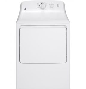 GE® 6.2 cu. ft. capacity aluminized alloy drum electric dryer (GTX22EASKWW) Image
