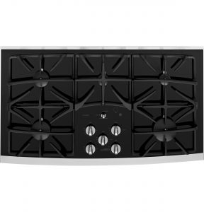 GE Profile™ Series 36in Built-In Gas Cooktop (JGP970SEKSS) Image
