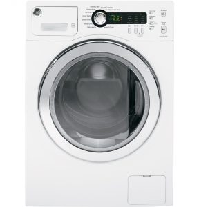 GE® 2.2 DOE cu. ft. Front Load Washer (WCVH4800KWW) Image
