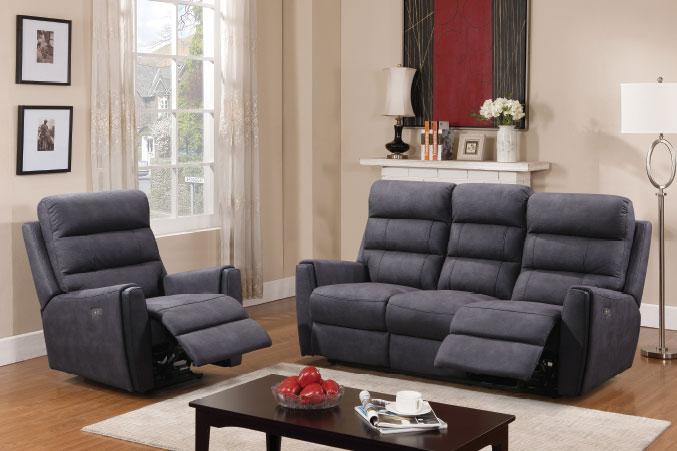 Global Decor Furniture Power 5pc Recliner Set (YB751) Image