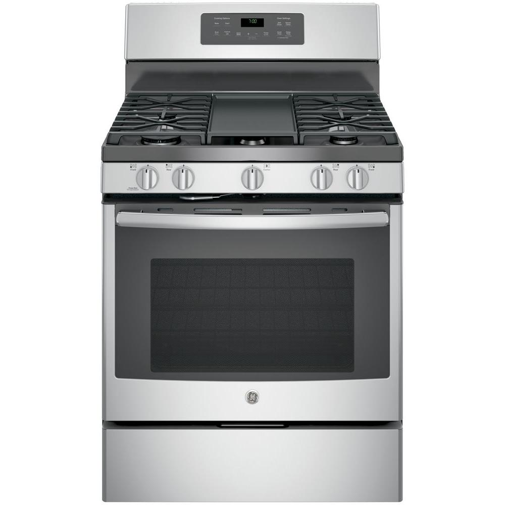 GE® 30in Free-Standing Gas Convection Range (JGB700SEJSS) Image
