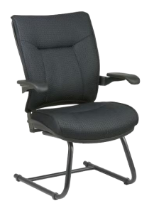 Office Star® spresso Deluxe Mesh Visitors Chair with Cantilever Arms (39-M11V13C) Image