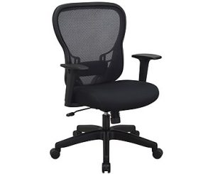 Office Star®Space Seating R2 SpaceGrid Back Chair Padded Mesh Seat Black (529-37N11) Image