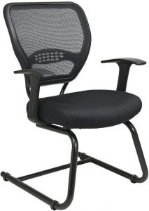 Office Star®Space Seating 5505 Professional AirGrid® Back Visitors Chair with Mesh Seat (5505) Image