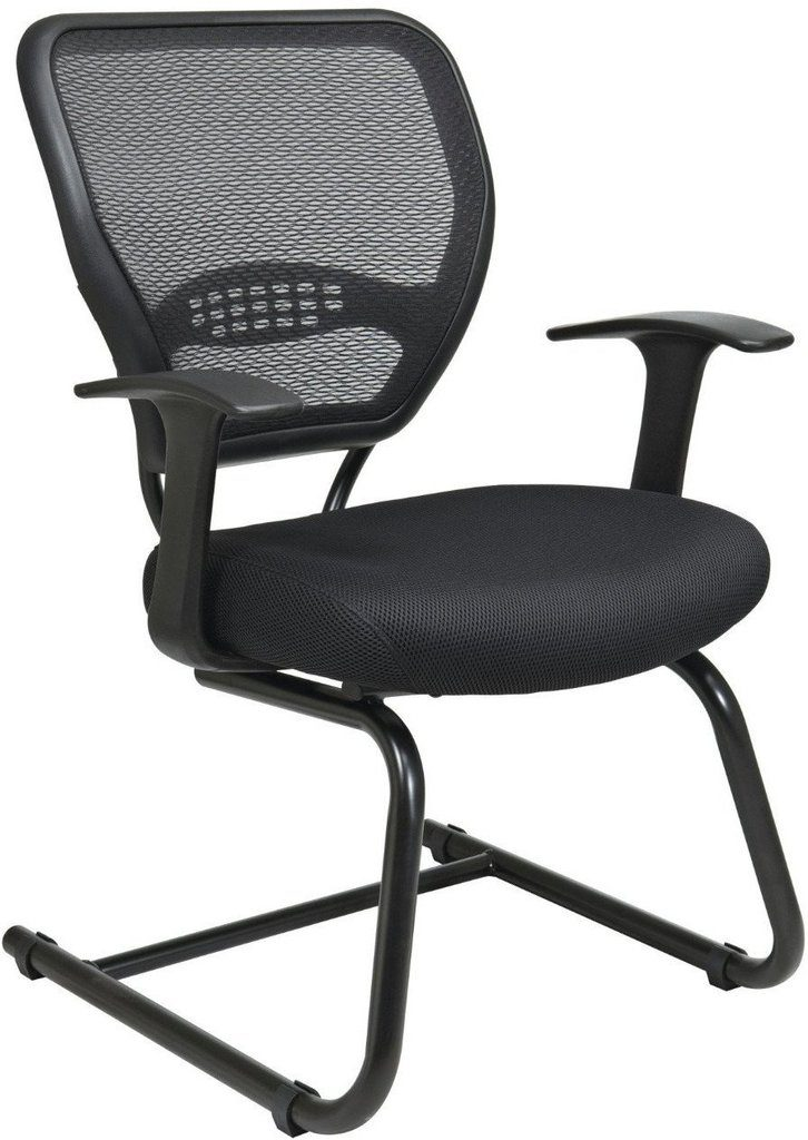 Office Star®Space Seating 5505 Professional AirGrid® Back Visitors Chair  With Mesh Seat (