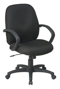 Office Star® Executive Mid Back Managers Chair with Fabric Back (EX2651-231) Image