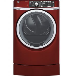 GE® 8.3 cu. ft. Capacity RightHeight™ Front Load Electric ENERGY STAR® Dryer with Steam (GFD49ERPKRR) Image