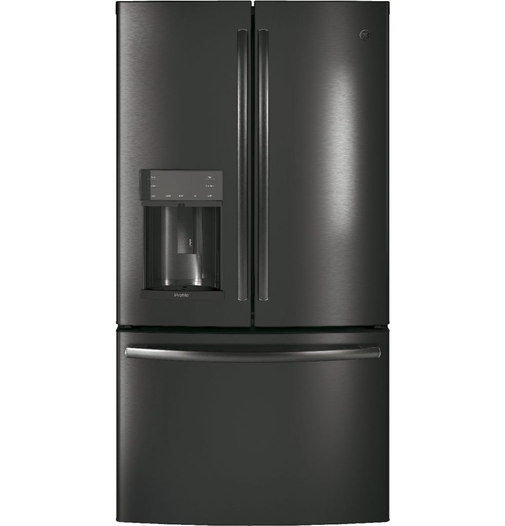 GE Profile™ Series 27.8 Cu. Ft. French-Door Refrigerator with Door In Door and Hands-Free AutoFill (PFD28KBLTS) Image