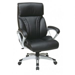 Office Star® Executive Chair Arm Eco Leather Silver Base (ECH89206-EC3) Image