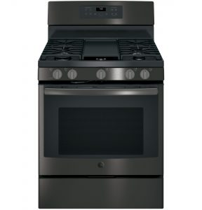 GE® 30in Free-Standing Gas Convection Range (JGB700BEJTS) Image