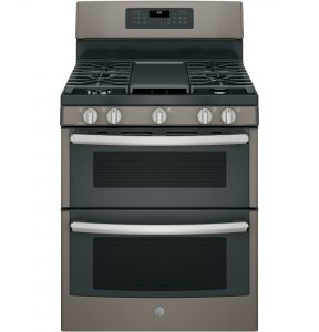GE® 30in Free-Standing Gas Double Oven Convection Range (JGB860EEJES) Image