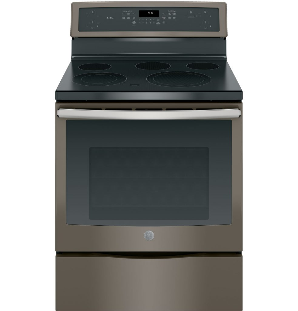 GE Profile™ Series 30in Free-Standing Electric Convection Range (PB911EJES) Image