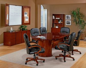 Global Decor Furniture Racetrack Conference Table Image