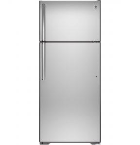 GE® 17.5 Cu. Ft. Top-Freezer Refrigerator (GTS18GSHSS) Image